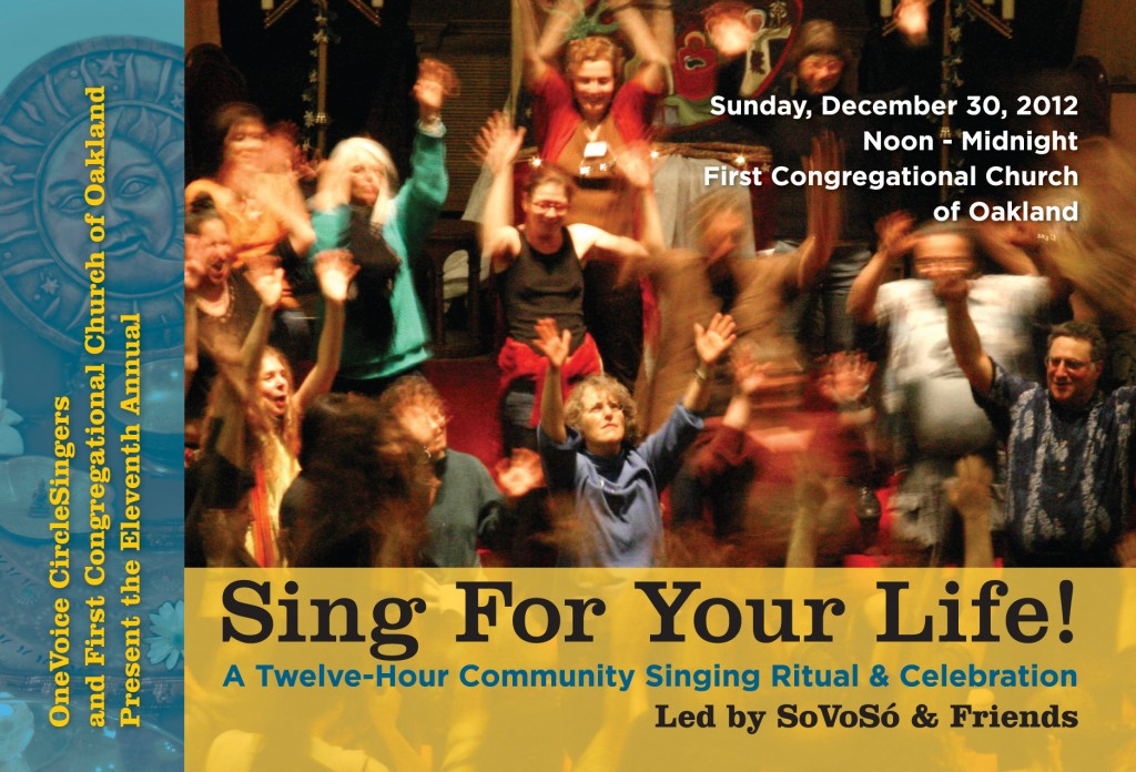 Sing for Your Life (Front)